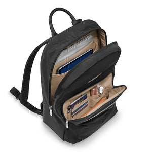 Briggs & Riley Rhapsody Women's Essential Backpack in Black inside view