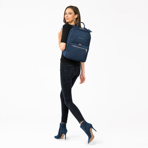 Briggs & Riley Rhapsody Women's Essential Backpack in Navy on model