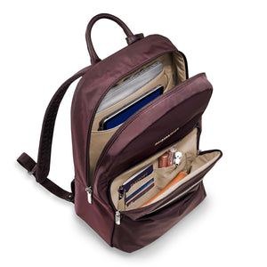 Briggs & Riley Rhapsody Women's Essential Backpack in Plum inside view