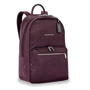 Briggs & Riley Rhapsody Women's Essential Backpack in Plum side view