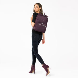 Briggs & Riley Rhapsody Women's Essential Backpack in Plum on model
