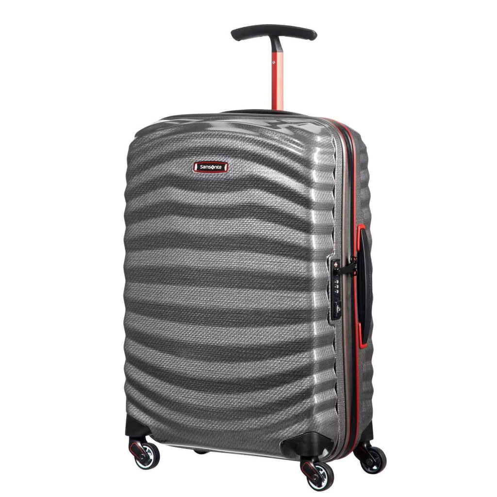 Samsonite Lite-Shock Sport Carry-On in Eclipse Grey front view