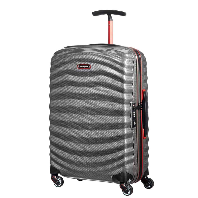 Samsonite Lite-Shock Sport Carry-On in Off White front view