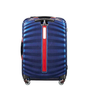 Samsonite Lite-Shock Sport Carry-On in Nautical Blue rear view