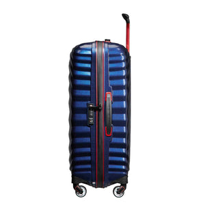 Samsonite Lite-Shock Sport Medium in Nautical Blue side view