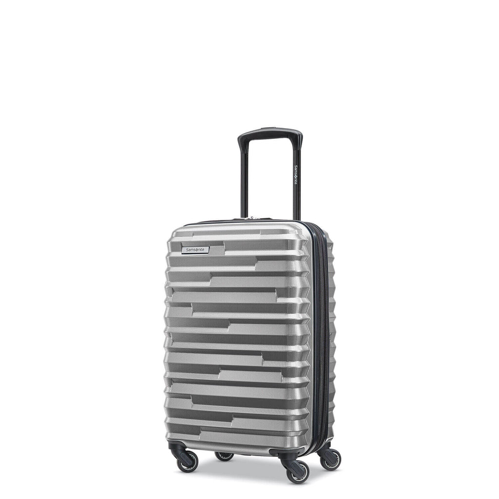 Samsonite Ziplite 4.0 Spinner Carry-On Expandable in Silver Oxide front view
