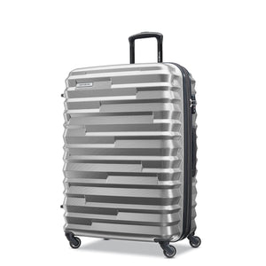 Samsonite Ziplite 4.0 Spinner Large Expandable in Silver Oxide front view