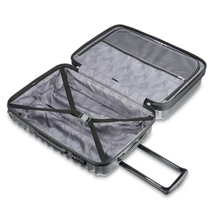 Samsonite Ziplite 4.0 Spinner Large Expandable in Silver Oxide inside view
