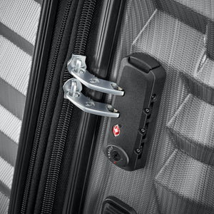 Samsonite Ziplite 4.0 Spinner Large Expandable in Silver Oxide TSA lock