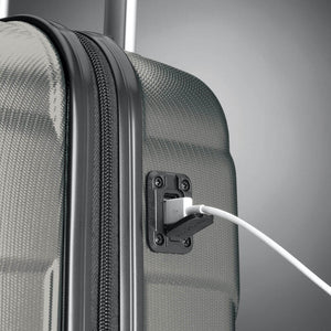 Samsonite Winfield NXT Spinner Underseater in Charcoal USB port