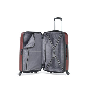 Samsonite Winfield NXT Spinner Large Expandable in Dark Red inside view