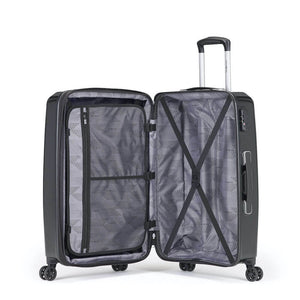 Samsonite Pursuit DLX Plus Spinner Medium Expandable in Black inside view