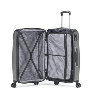 Samsonite Pursuit DLX Plus Spinner Medium Expandable in Charcoal inside view