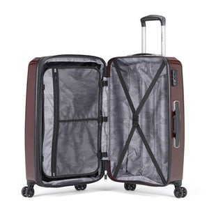 Samsonite Pursuit DLX Plus Spinner Medium Expandable in Dark Burgundy inside view