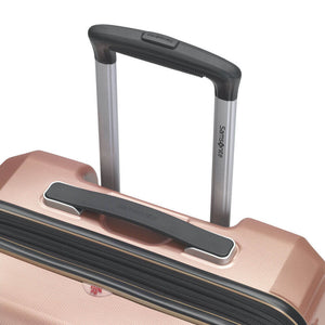 Samsonite Pursuit DLX Plus Spinner Medium Expandable in Rose Gold pull handle