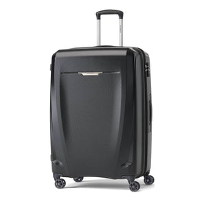 Samsonite Pursuit DLX Plus Spinner Large Expandable in Black front view