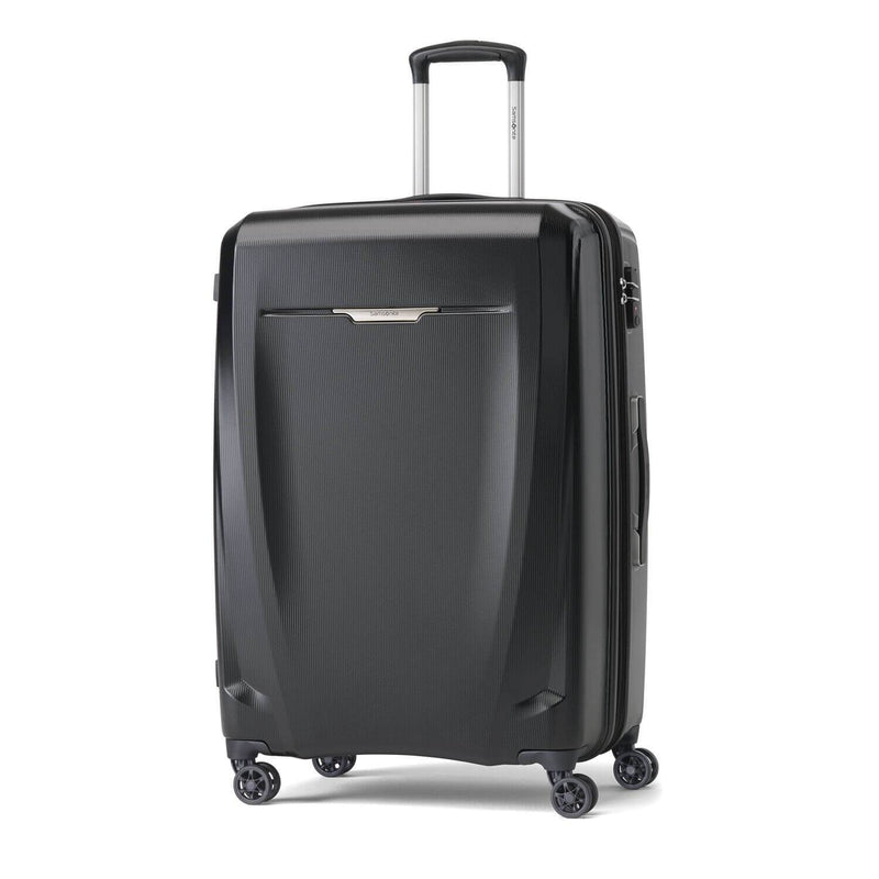 Samsonite Pursuit DLX Plus Spinner Large Expandable in Pearl Rose front view