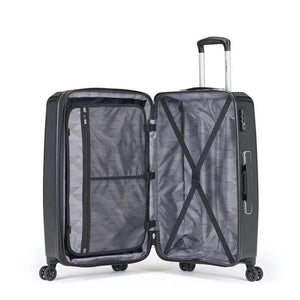 Samsonite Pursuit DLX Plus Spinner Large Expandable in Black inside view