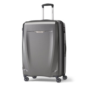 Samsonite Pursuit DLX Plus Spinner Large Expandable in Charcoal front view