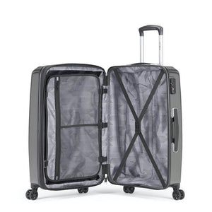 Samsonite Pursuit DLX Plus Spinner Large Expandable in Charcoal inside view