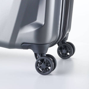 Samsonite Pursuit DLX Plus Spinner Large Expandable in Charcoal wheels