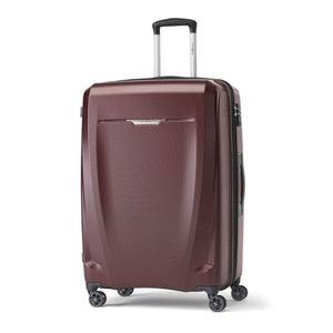 Samsonite Pursuit DLX Plus Spinner Large Expandable in Dark Burgundy front view