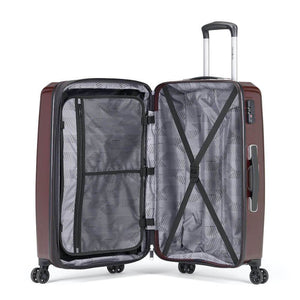 Samsonite Pursuit DLX Plus Spinner Large Expandable in Dark Burgundy inside view