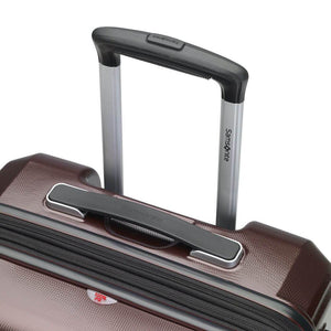 Samsonite Pursuit DLX Plus Spinner Large Expandable in Dark Burgundy pull handle