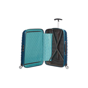 Samsonite Lite-Shock Carry-On in Petrol Blue inside view