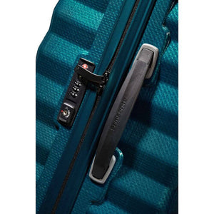 Samsonite Lite-Shock Carry-On in Petrol Blue TSA lock