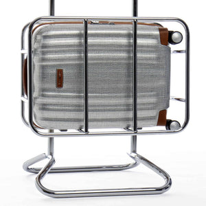 Samsonite Lite-Cube DLX Carry-On in Aluminum colour in cage