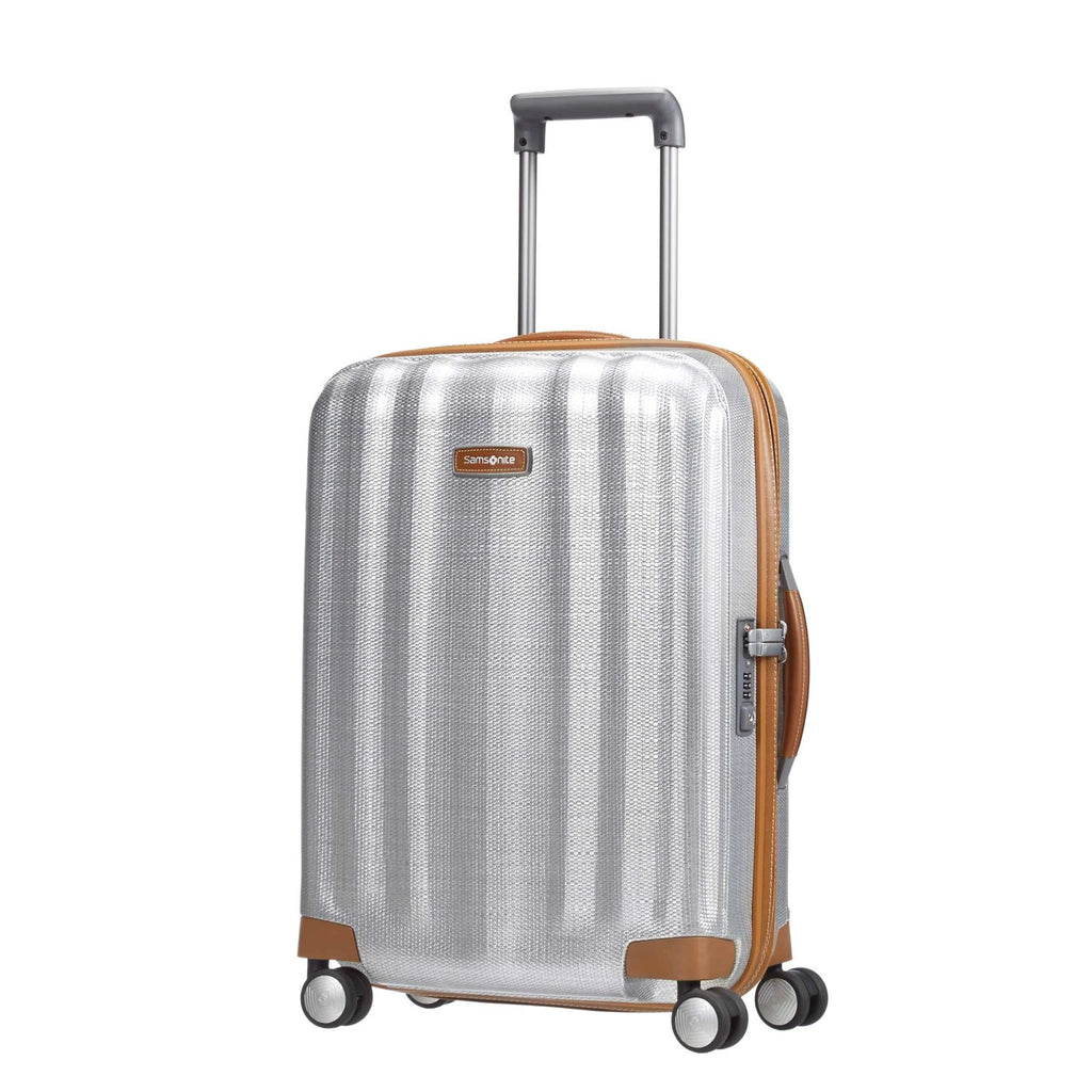 Samsonite Lite-Cube DLX Carry-On in Aluminum colour front view