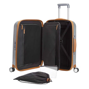 Samsonite Lite-Cube DLX Carry-On in Aluminum colour inside view