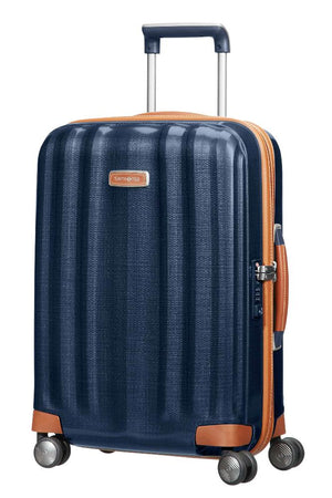 Samsonite Lite-Cube DLX Carry-On in Midnight Blue front view