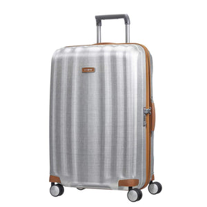 "Samsonite Lite-Cube DLX Large 28"" in Aluminum colour front view"