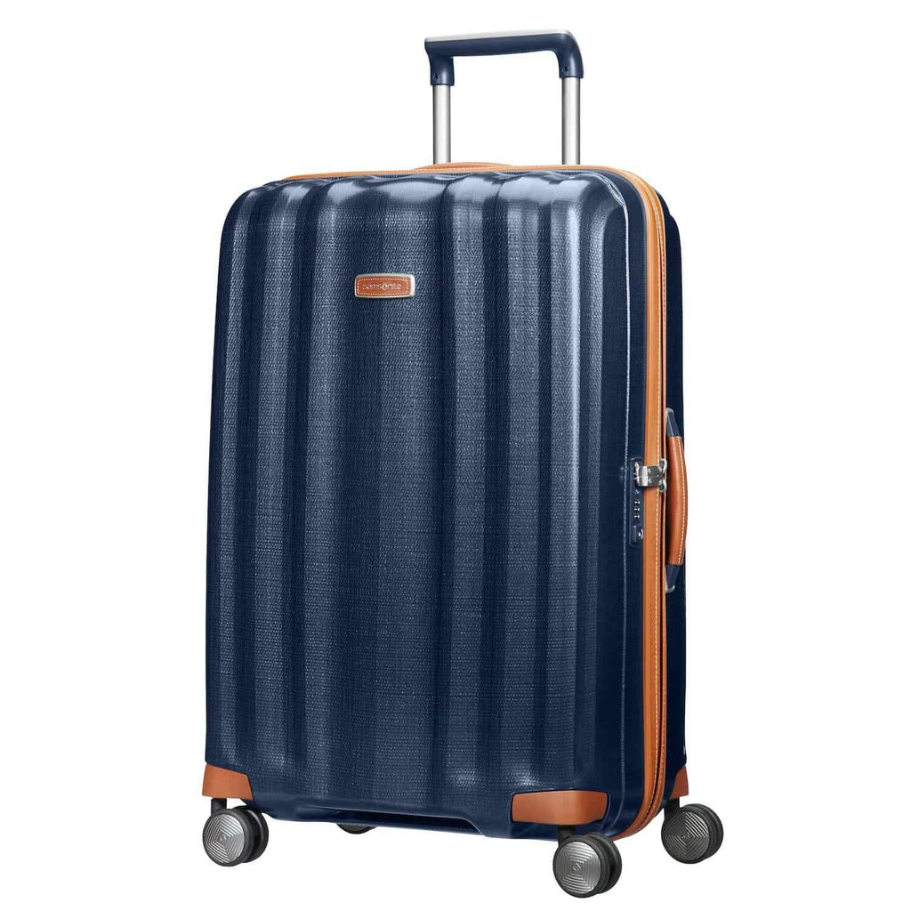 "Samsonite Lite-Cube DLX Large 28"" in Midnight Blue front view"