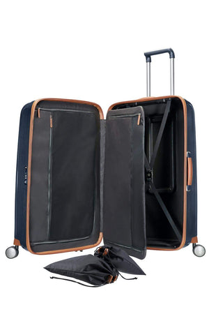 "Samsonite Lite-Cube DLX Large 28"" in Midnight Blue inside view"