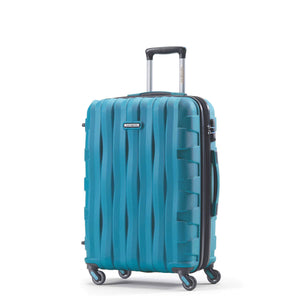 Samsonite Prestige 3D Spinner Medium Expandable in Turquoise front view
