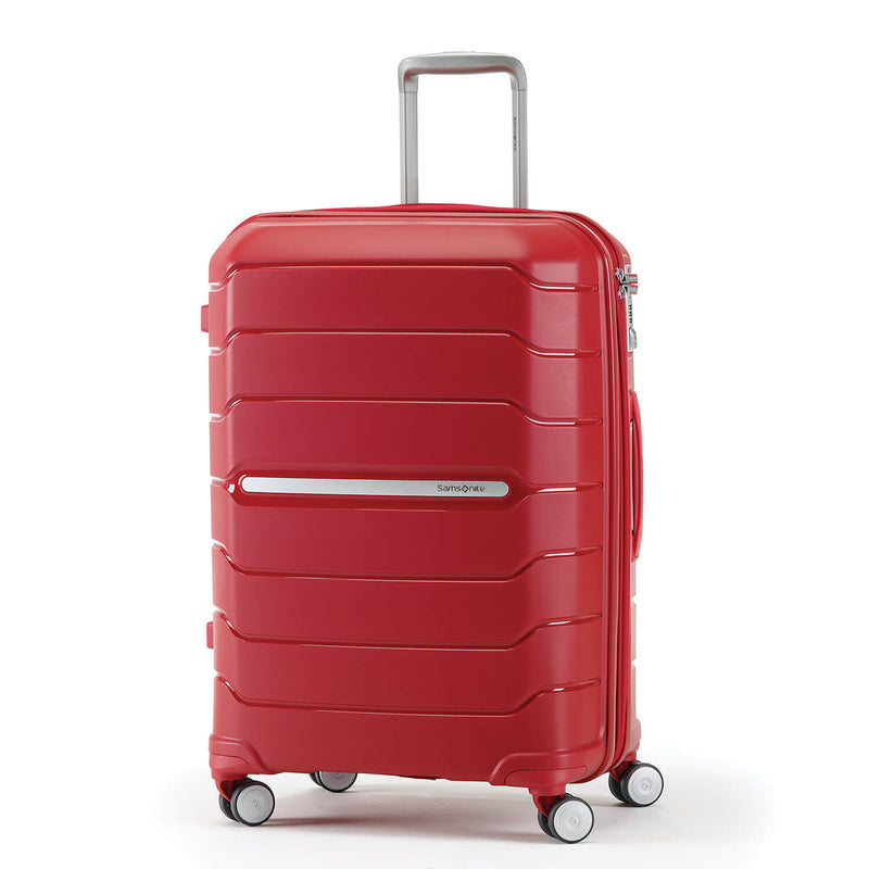 Samsonite Freeform Spinner Large Expandable in Red front view