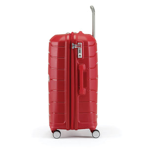 Samsonite Freeform Spinner Large Expandable in Red side view