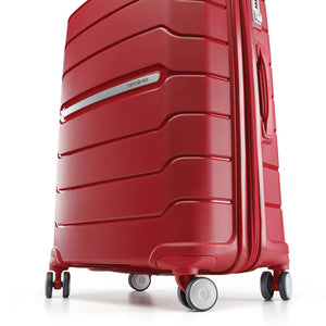 Samsonite Freeform Spinner Large Expandable in Red wheels