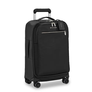 Briggs & Riley Rhapsody Tall Carry-On Spinner in Black side view