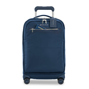 Briggs & Riley Rhapsody Tall Carry-On Spinner in Navy front view