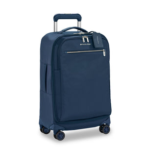Briggs & Riley Rhapsody Tall Carry-On Spinner in Navy side view