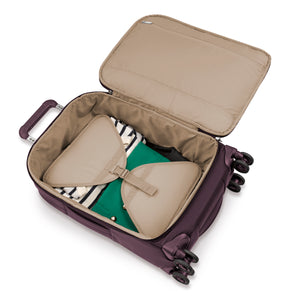 Briggs & Riley Rhapsody Tall Carry-On Spinner in Plum inside view