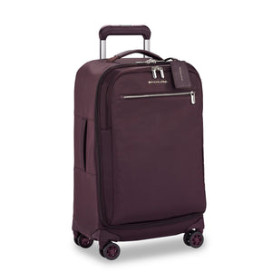 Briggs & Riley Rhapsody Tall Carry-On Spinner in Plum side view