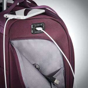 Samsonite Luggage Spinner Underseater in colour Purple