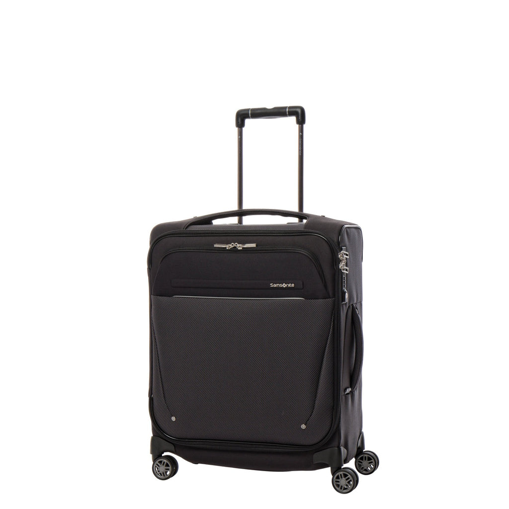 Samsonite B-Lite Icon Spinner Carry-On Widebody in Black front view