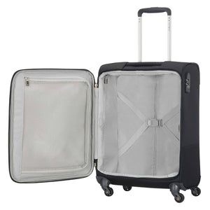 Samsonite Base Boost Spinner Carry-On in Black inside view