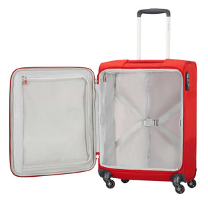 Samsonite Base Boost Spinner Carry-On in Red inside view